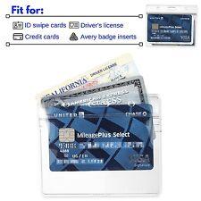 1 ID Badge Plastic Holder Zip Lock Zipper ID Card School Hospital Cruise Work