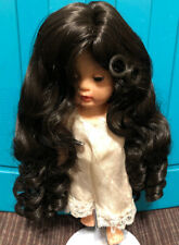 A DOLL WIG Style SAMANTHA Size 9-10 Color Black Modacrylic by Global Dolls NOS