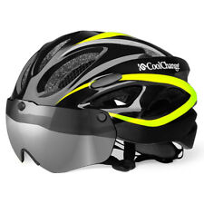 Adjustable MTB Road Bike Cycling Safety Helmets With Goggles 57-62cm Head Scope