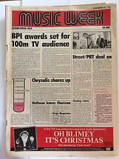 MUSIC WEEK MAGAZINE  30 NOVEMBER 1985  AL GREEN     LS
