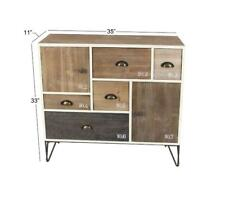 Rustic 5 Drawer Storage Chest Iron Legs with Number Markers