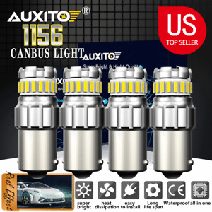 AUXITO 1156 BA15S 7506 P21W LED Car Turn Signal Light DRL Bulbs White ERROR FREE