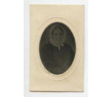 Tintype Studio Portrait Lady W/ Bonnet, 1/16 Plate, Period Mat