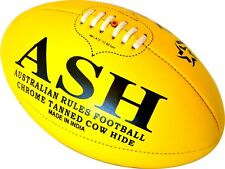 5X GENUINE LEATHER MATCH AUSSIE RULES FOOTBALL AFL BALL SIZE 5 -REDUCED TO CLEAR