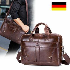Messenger Bag Umhängetasche Aktentasche Herren echt Leder Laptoptasche Tasche