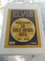 Elvis Presley 50 worldwide gold Award Hits Vol.1 No.4  8 Track Tape Cartridge
