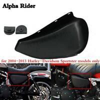 Motorcycle Left Side Battery Cover for Harley-Davidson Sportster 883 1200 04-13