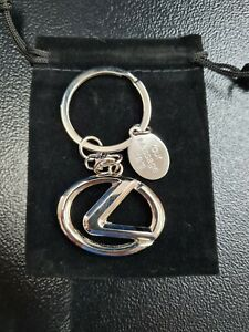 Personalised Lexus Chrome Logo Keyring  Engraved Message Tag & Gift Bag Included