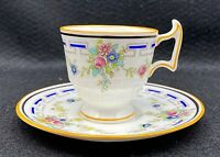 ANTIQUE ROYAL DOULTON DEMITASSE CUP & SAUCER Rd. No. 657883, c.1916