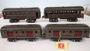 Prewar Lionel Standard Passenger Car Set From Lou Redman Estate 332 332 339 341