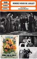 FICHE CINEMA : RENDEZ-VOUS DE JUILLET Gélin,Auber,Becker 1949 Rendezvous in July