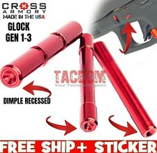 Cross Armory for Glock Gen 1 2 3 Red Recessed DIMPLE Pins Trigger Housing