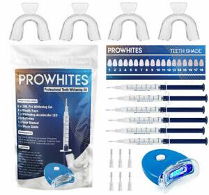 PRO WHITES SMILE WHITENING KIT TOOTH WHITENER BLEACHING STRONG GELS + LIGHT