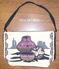"Purse Handbag Southwest Navajo Pottery Design 13x19"" Zips close New"