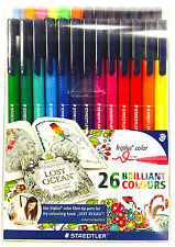 26 x Sstaedtler Triplus Color 323 Assorted - Exclusive Johanna Basford Edition