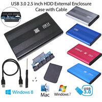 "USB 3.0 SATA 2.5"" Inch External Hard Drive Disk Enclosure HD HDD Mobile Case Box"