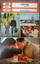 US Drama Rain Man Tom Cruise Dustin Hoffman French Film Trade Card