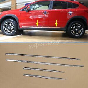 For Subaru XV 2018-2020 4pcs Car Chrome Door Body Trim Strips Accessories