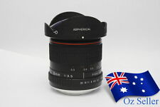 Kelda 8mm f/3.5 Aspherical Circular Ultra Fisheye Camera Lens for Nikon