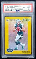2018 Absolute Spectrum GOLD RC Jets SAM DARNOLD Rookie Card PSA 8.5 Low Pop 8