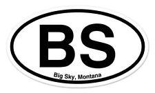 "BS Big Sky Montana Oval car window bumper sticker decal 5"" x 3"""