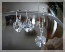 Swarovski Elements Schmuckset 4tlg. Herzkette Herz Crystal Silber 925 NEU