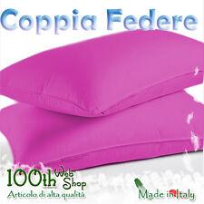 COPPIA FEDERE 52X82 100% COTONE FUCSIA FEDERA GUANCIALE CPFDFCSS