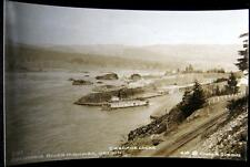 Columbia River Highway Or~1920's Cascade Locks~Ferry~Rr Tracks~Cross Rppc