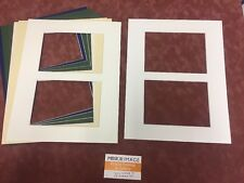 """6 x Professional Picture Framing Mat Boards 11""""x 14"""" with 2X(5""""x7"""") Photo Window"""