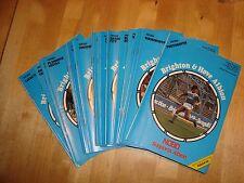 Set completo di Brighton & Hove Albion 1986-87 programmi di casa - 23 in tutte le