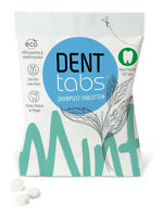 Denttabs 125 Stück  - fluoridfrei - Zahnputztabletten  kompostierbare Verpackung