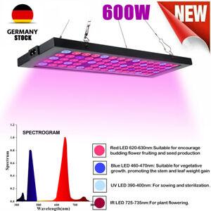 600W LED wachsen Licht hydroponischen Full Spectrum Veg Blumen Pflanzen Lampe PW