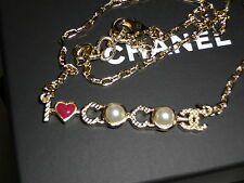 CHANEL SS 2017 I LOVE COCO PEARL CHARM NECKLACE BRAND NEW WITH BOX AND BAG