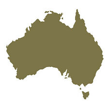 Australia shape Car Window Bumper Wall Fridge Vinyl Decal Souvenir Sticker Gold