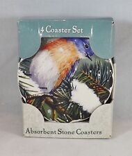 Highland Graphics Absorbent Stone 4 Coaster Set -- New -- Bluebird