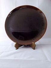 "Rare Canonsburg Carefree Ironstone Brown Drip Large 13"" Round Platter/Chop Plate"