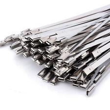 100-tlg Edelstahl Kabelbinder Metallkabelbinder Kabel Binder 4,6 X 300mm