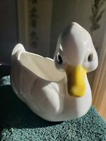 Vintage White Duck Ceramic Planter 9882 No Chips Or Crks