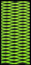 Kawasaki 650SX Hydroturf Mat Kit HT65 mats Black on Lime Green cut Diamond