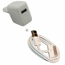 Apple iPhone 4s USB Datenkabel + PowerAdapter EU-Stecker Charge 10W 2.1A