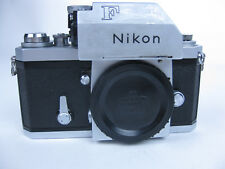 VF NIKON F 35mm Film Camera W/PHOTOMIC T VIEWER-METER/WORKING~Body Only Vintage
