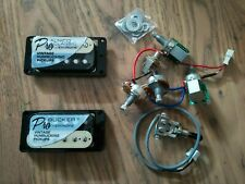 More details for complete solderless epiphone probucker / alnico pickup set & wiring loom - zebra