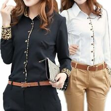 Unbranded Women's Animal Long Sleeve Sleeve Button Tops & Blouses