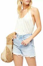 Free People Women's Tank Top White Size Small S Knit Sandy V-Neck $38 #159