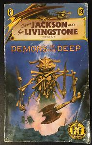 DEMONS OF THE DEEP Fighting Fantasy #19 1987 1/5 Bronze Dragon Num Cover Good
