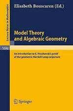 Model Theory and Algebraic Geometry: An introduction to E. Hrushovski's proof of