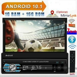 7'' Wifi GPS Navi Android 10.1 1Din Autoradio Touchscreen Auto MP5 Bluetooth USB