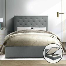 Artiss BFRAME-E-VILA-KS-GY-ABC Fabric Bed Frame, Size King - Grey
