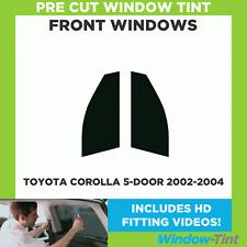Pre Cut Window Tint - Toyota Corolla 5-door Hatchback 2002-2004 - Front Windows