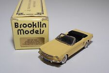 -- BROOKLIN BRK 56 1965 FORD MUSTANG CONVERTIBLE YELLOW MINT BOXED